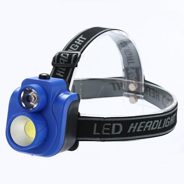 Portable COB LED Headlight Strong Lumen 2 Modes COB Headlamp Small Camping Fishing Head Lights Waterproof Led Head Flashlight
