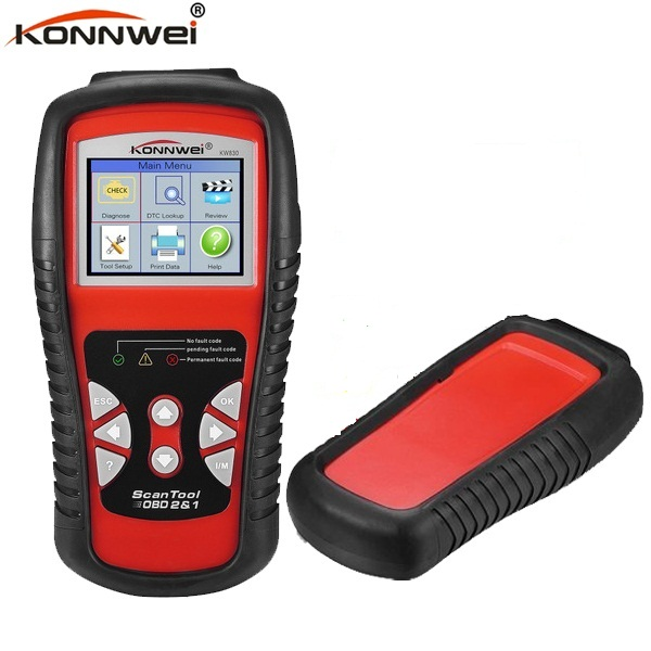 OBD II KW830 AL519 OBD2 EOBD Car Fault Code Reader Scanner Automotive Diagnostic Code Readers & Scan Tools Test Battery kw830 obd2 eobd car fault code reader scanner automotive diagnostic scan tool can test battery