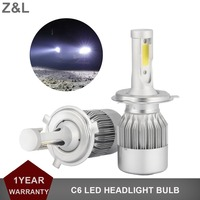 1pair H4 H7 H11 H1 H3 9005 9006 COB Car LED Headlight Bulb 72W Hi Lo
