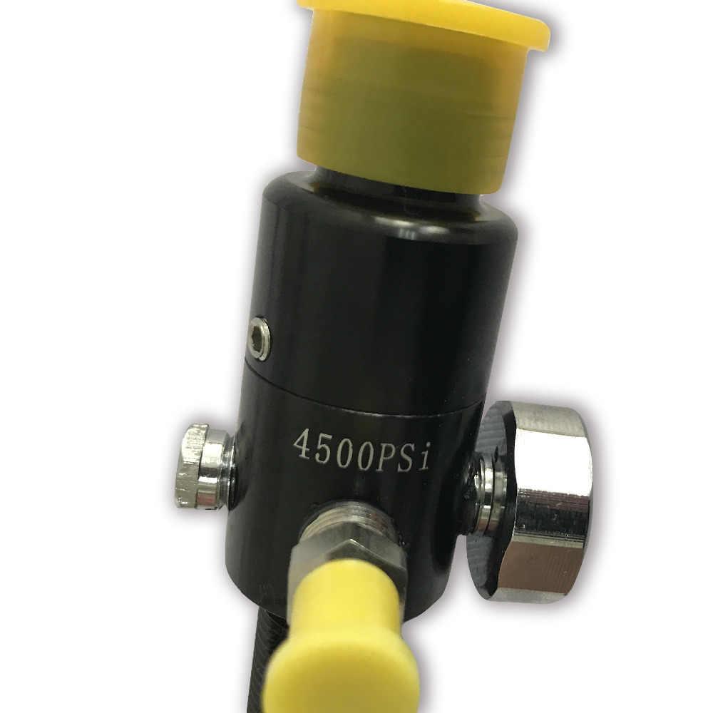 AC961 Acecare Outsports PCP HPA 4500Psi Paintball tanque regulador para Mini Gas cilindro arma de caza de aire Pcp válvula usada Paintball