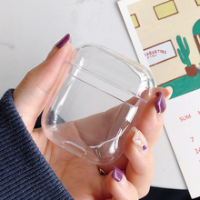 Colorful Transparent Wireless Earphone Charging Box Cover Bag for Apple AirPods Hard PC Protective Case