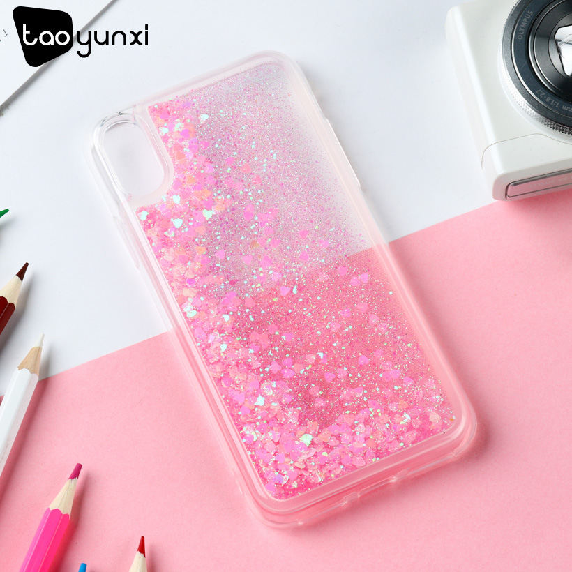 TAOYUNXI Glitter Stars Cases For iPhone X Soft TPU Case For iPhone 10 Back Case For iPhone X Cases iPhone Ten Cover Silicone