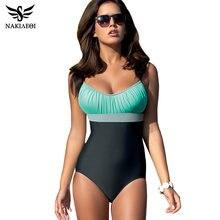 96fc87d4a399e0 NAKIAEOI Jednoczęściowy Strój Kąpielowy Plus Size Stroje Kąpielowe Kobiety  Swimsuit 2018 Lato Duża Plaża Rocznika Retro
