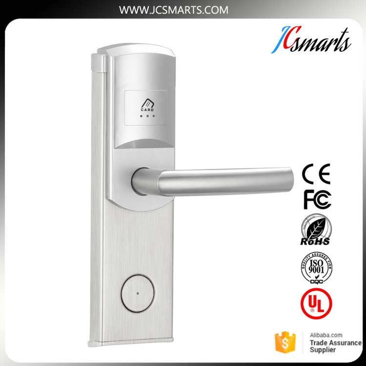 Smart hotel lock RF Key card keyless door lock with American standard lock cylinder hotel electronic smart keyless rfid card door lock digital access control key card hotel lock door