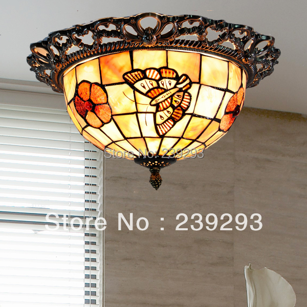 Mamei wholesale free shipping 110 240v indoor tiffany ceiling lights mamei wholesale free shipping 110 240v indoor tiffany ceiling lights for bedroom with 10 inch butterfly design shell lamp shade in ceiling lights from aloadofball Gallery