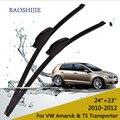 """Lâminas de limpador para volkswagen amarok (2010-2012) & T5 Transporter (2003-2013) 24 """"+ 23"""" fit padrão J braços gancho wiper"""