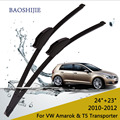 """Limpiaparabrisas cuchillas para volkswagen amarok (2010-2012) y T5 Transporter (2003-2013) 24 """"+ 23"""" ajuste estándar J brazos del limpiaparabrisas hook"""