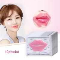 10Pcs Beauty Super Lip Plumper Pink Crystal Collagen Lip Mask Patches Moisture Essence Wrinkle Ance korean Cosmetics Skin Care 2