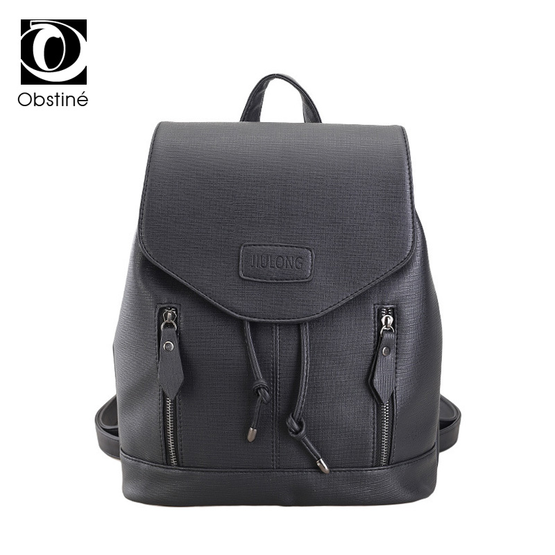 High Quality England Vintage Style PU Leather Men Backpacks For College Preppy Style School Backpacks for