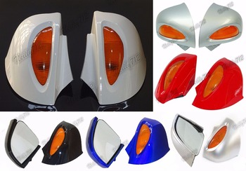waase Rear View Mirrors with Turn Signal Lens For BMW R1100RT R1150RT R1100 RT RTP R1150 RT image