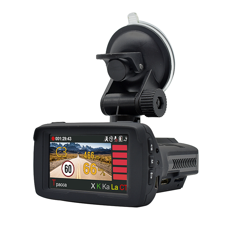 <font><b>Car</b></font> <font><b>DVR</b></font> <font><b>radar</b></font> <font><b>detector</b></font> <font><b>GPS</b></font> <font><b>Radar</b></font> <font><b>Detector</b></font> <font><b>3</b></font> <font><b>in</b></font> <font><b>1</b></font> Full HD 1296P Video Recorder logger Ambarella 170 Degree Russian Language LDWS image