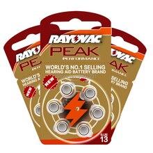 60 PCS Rayovac PEAK ประสิทธิภาพสูงเครื่องช่วยฟังแบตเตอรี่ Zinc Air 13/P13/PR48 แบตเตอรี่สำหรับ BTE เครื่องช่วยฟังจัดส่งฟรี!