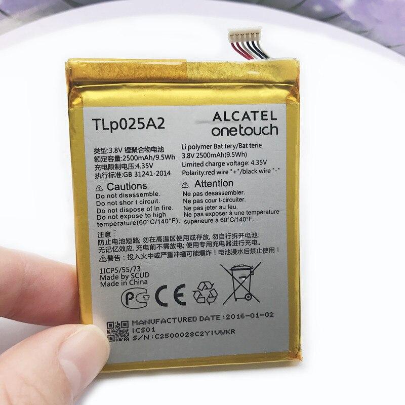 2500 mah TLp025A2 Batterie Pour Alcatel One Touch Pop 3 (5.5) 5054A OT-5054 5054 t 5054D 5054X Mobile Téléphone Batteries