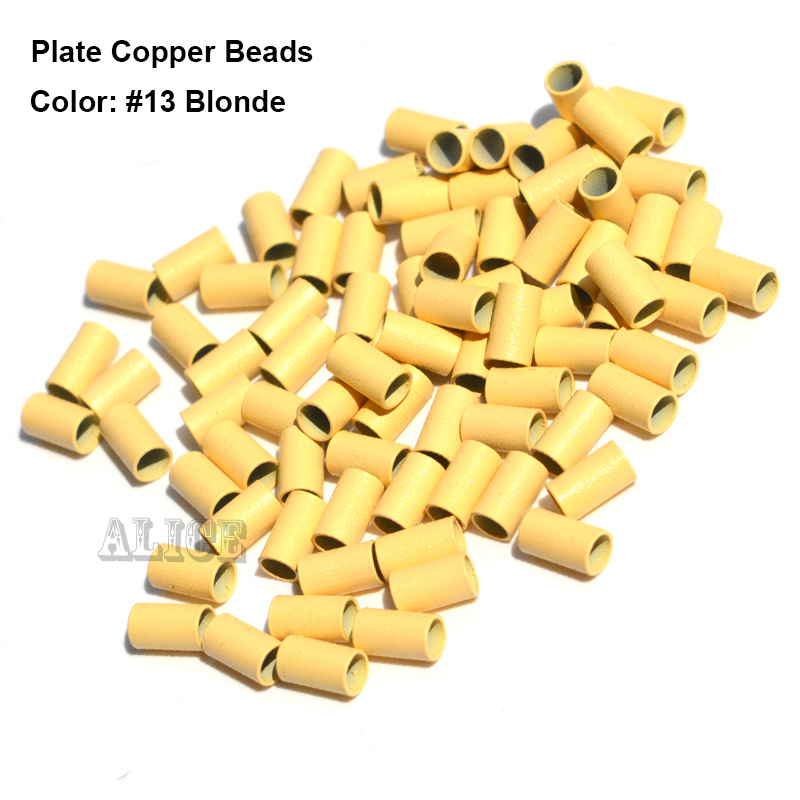 Borda da Placa de Cobre Tubos de Extensão do Cabelo Micro Anéis – Lote Dreadlock Contas 3.4*3.0*6.0mm 1000 Pçs Mod. 125798