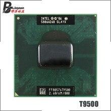 Intel Core 2 Duo T9500 SLAQH SLAYX 2.6 GHz ثنائي النواة ثنائي الموضوع معالج وحدة المعالجة المركزية 6 متر 35 واط المقبس P