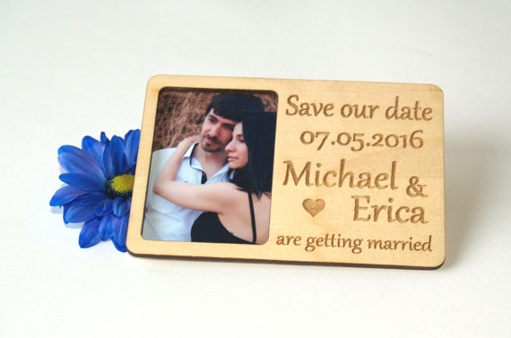 save the date photo magnet personalized elegant wedding invitation