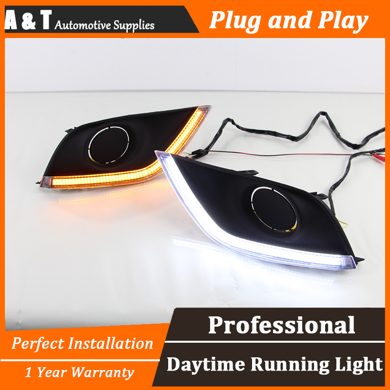car styling For Nissan Sunny LED DRL For Sunny R led fog lamps daytime running light High brightness guide LED DRL for lexus rx gyl1 ggl15 agl10 450h awd 350 awd 2008 2013 car styling led fog lights high brightness fog lamps 1set