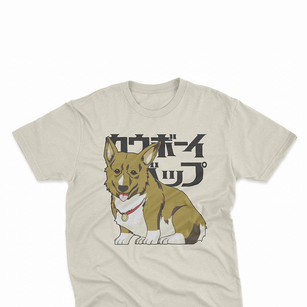 Corgi Dog Brand Cotton Men Basic Tops Fitness T-shirt Can Be Repeatedly Remolded. Cowboy Bebop Ein T Shirt Anime Japanese Graphic Tees