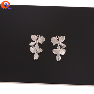 Image 2 - Сердечный дизайн 100 шт 14*27 мм ювелирные аксессуары/серьги соединители/форма цветка/Сделай сам/ручная работа/ювелирные изделия фурнитура компонент