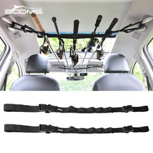 Booms Fishing VRC Car Rod Provider Rod Holder Belt Strap With Tie Suspenders Wrap Fishing Deal with Containers Instruments Field Equipment