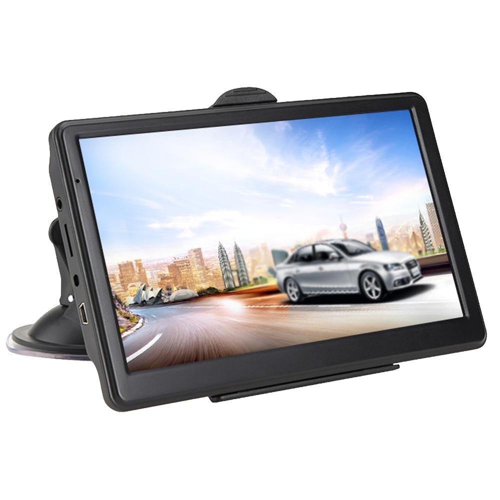 7 Inch 8GB 128MB GPS Navigator Resistive Display Multifunctional Multilingual HD Maps Portable Car Guidance Caravan Device Truck