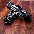 """1 """"25 мм Черный Алюминиевый ЧПУ Глубокий Вырез Ручка Бар Ручные Захваты Для Harley Dyna Sportster Touring Softail Пользовательские"""