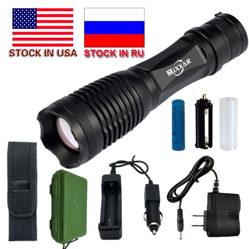 ZK20 9000/9500LM Wasserdichte Taschenlampen LED Taschenlampe T6 L2 Taschenlampe 5 Modus Zoomable Laterne Für 18650 Batterie Lager in UNS, RU