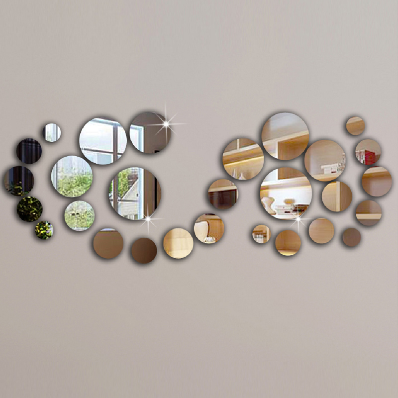 Europe 3d Acrylic Mirror Wall Stickers Sticker 28 Home Decoration Decor Modern Design   New Promotion Stars