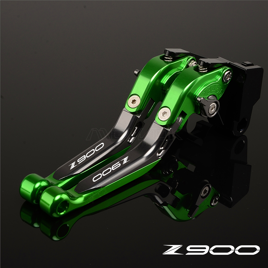 2018 High Quality Motorcycle CNC New Titanium Green brake Clutch Levers For Kawasaki Z650 z900 2017