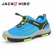 Jackshibo الصيف الاطفال شبكة الأحذية تنفس الرقعة عدم الانزلاق فتاة بنين المنبع أكوا المياه أحذية طفل حذاء الربيع حذاء طفل