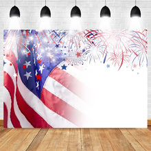 Mehofoto Celebration Independence Day Backdrop for Photography Firework Background American Flag Backdrops for Photo Studio