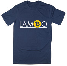 Lambo T-Shirt - Funny BTC ETH Crypto Reddit HODL Bitcoin 6 colours New T Shirts Tops Tee Unisex Black Style