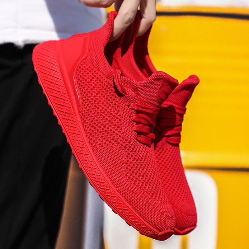 Adulte Été Printemps léger 46 39 2019 Hommes Taille Confortable Grande Noir Chaussures Respirant blanc gris Flyknit Ultra rouge Sneakers Nouveau Mâle xXqZYwEgw
