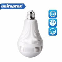 Bulb Light Wireless IP Camera Wi Fi FishEye 960P 360 Degrees Mini CCTV 3D VR Camera