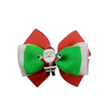 10pcs 5 inch NEW Christmas Style snowman Ribbon Bow hair bows Hair Clip Hairpins hair accessories  Best Gift Alligator Clip bow style wig decorative hair clip golden l
