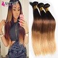 Ombre Malaysian Virgin Hair Ombre Malaysian Straight Hair 3 Bundles 1b 4 27 Malaysian Hair Weave Bundles 3 Tone Straight Hair