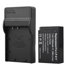 1Pcs 1500mAh LP-E17 LPE17 Camera Batteries For Canon EOS M3 M5 750D 760D T6i T6s 8000D Kiss X8i Battery +USB Charger for LP E17