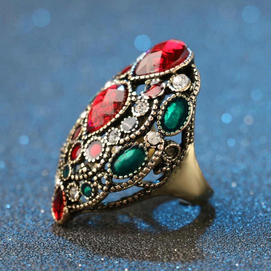 Kinel Fashion Turkey Vintage Nakit Veliki emajlirani prstenovi za - Modni nakit - Foto 3