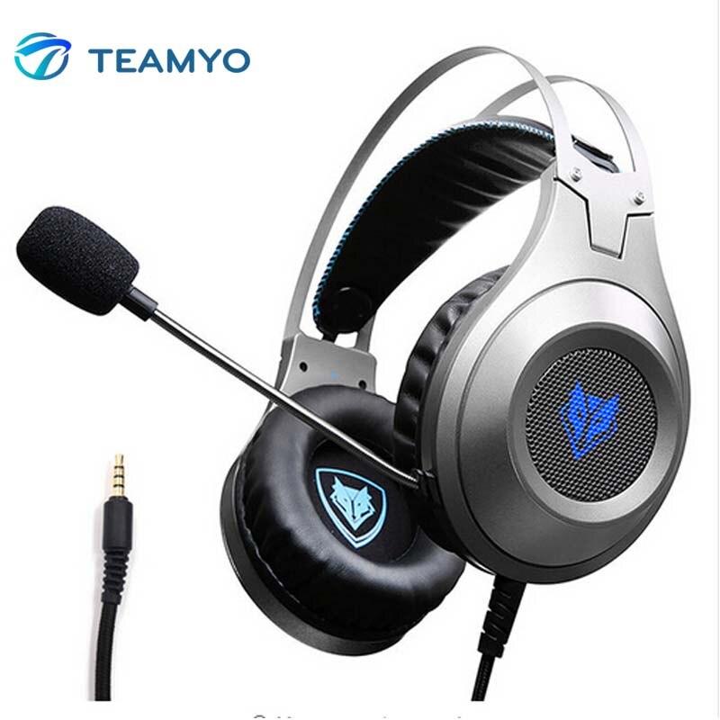 Teamyo fones de ouvido jogos n2 computador estéreo fone de ouvido gamer para o telefone móvel ps4 xbox pc fones de ouvido com microfone