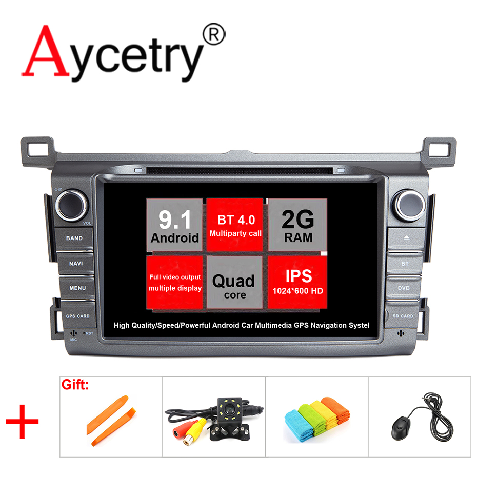 IPS 2 din Android 9 1 Car multimedia dvd player GPS Navigation For Toyota RAV4 RAV