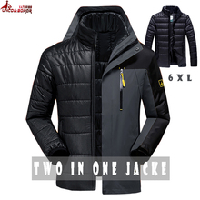 UNCO&BOROR new winter women men`s jacket outwear 2 in 1 wate