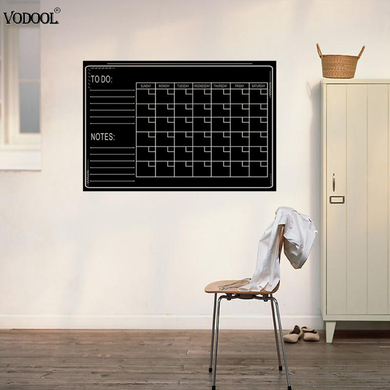 VODOOL Creative Wall Blackboard Sticker Vinyl Removable Self-Adhesive Children Early Education Decor Stationery Office Supplies kicute 70sheets pack self adhesive blank label paper price sticker stationery mark sticker for office stores libraries supplies