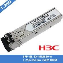 עבור H3C SFP GE SX MM850 A SFP מודול Multimode LC 1000Base SX 1.25G 850nm MMF 550 m DDM 10 יח\חבילה