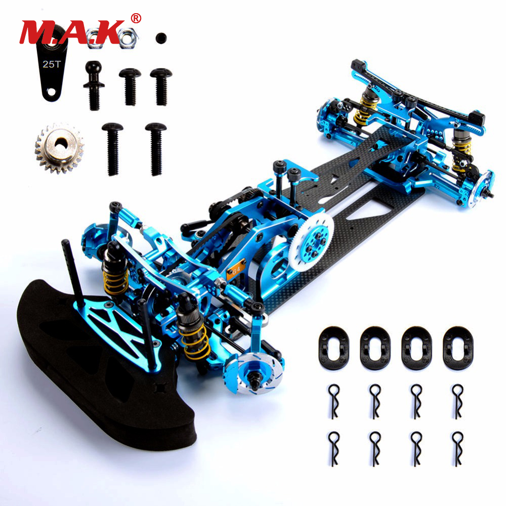 1/10 scale G4 Alloy Carbon & Fiber 1:10 Rc Drift Car Frame Kit For HSP HPI 1:10 4WD Drift RC Racing Car accessories hpi sprint 2 mustang vaughn gittin 4wd 2 4ghz