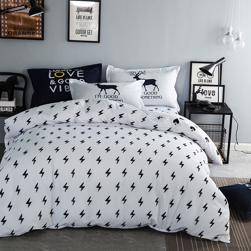 brief style bed linenwhite duvet cover with sheet