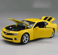 1/24 Chevrolet Camaro SS RS 2010 Bumble Bee YELLOW Color Model Car Toys For Children Brinquedos Collections Displays