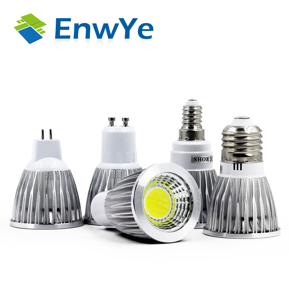 EnwYe Ultra Bright 3W 5W 7W AC85~265V E27 E14 GU10 MR16 12V LED Bulbs Spotlight COB led Lamp Bulbs Light Bombillas Lamparas high power 3w 5w 7w led spot light dimmable e27 e14 gu10 cob spotlight lamp bulb mr16 12v warm cold white ac85 265v bulb lamps