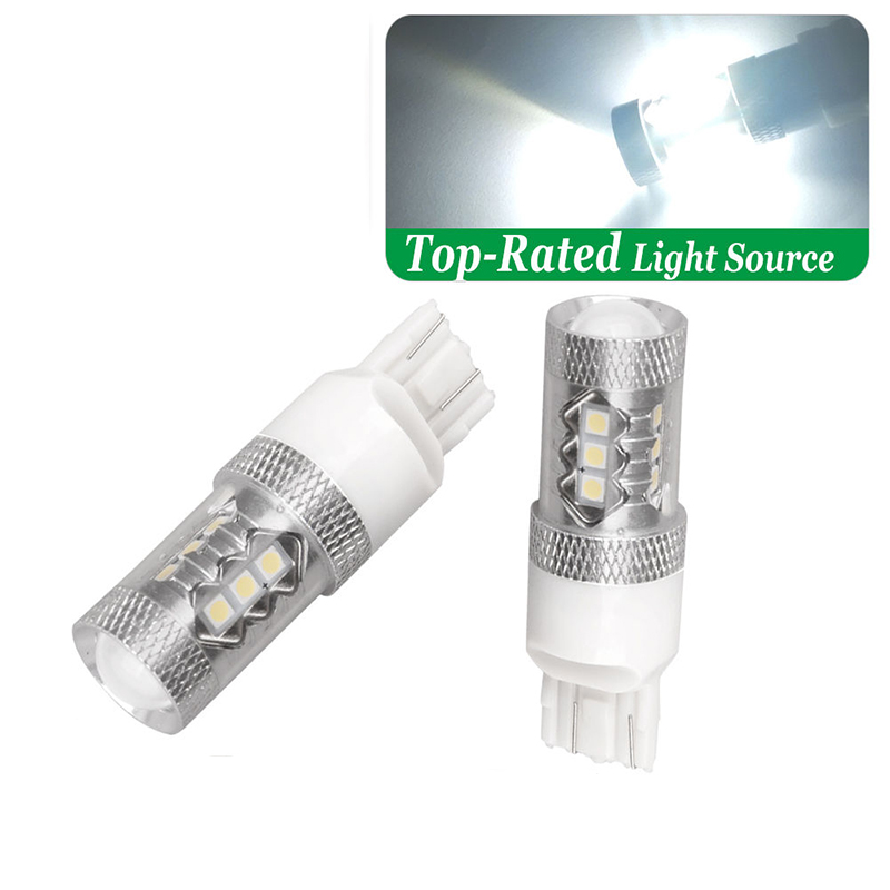 2x 3157 6000K Super White High Power 80W LED Tail Brake Lights 3156 4057 4157