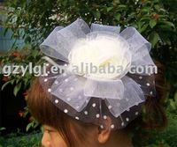Wholesale Lingerie Costume Party Fascinator White H068