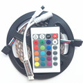 RGB Led Strip 5050 Waterproof IP67 IP68  5M 300Led SMD 60LED/M Lamp Flexible Rope Light Tape 12V 24key IR Remote Controller